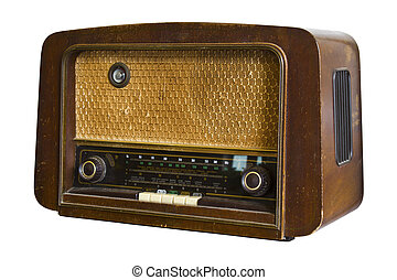 vintage radio, fashioned