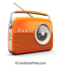 Vintage radio - Old orange vintage retro style radio ...