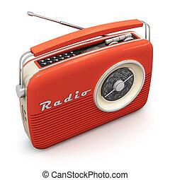 Vintage radio - Old red vintage retro style radio receiver...