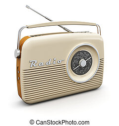 Vintage radio - Old vintage retro style radio receiver ...