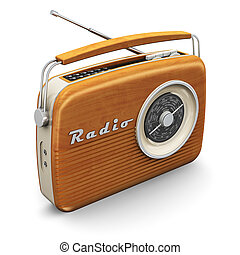 Vintage radio - Old wooden vintage retro style radio...