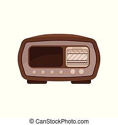 Vintage radio vector Illustration on a white background