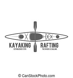 vintage rafting label badge or logotype - Set of vintage...
