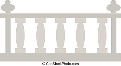 Vintage railing made of stone or gypsum architectural metal.