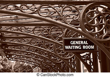 Vintage Railway Waiting Room - A vintage railway waiting...