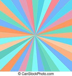 Vintage Rainbow Sunburst Background
