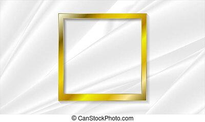 Vintage realistic golden blank instant photo frame motion ...