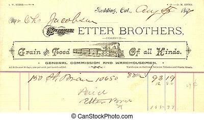 vintage receipt