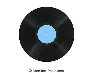 Vintage Record Album Isolated