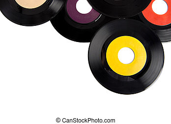 Vintage Record Albums - Vintage vinyl record albums with...
