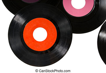 Vintage records - Vintage 45rpm records with blank labes on...