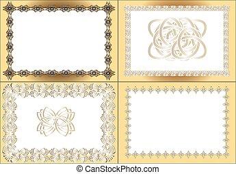 vintage rectangular frame
