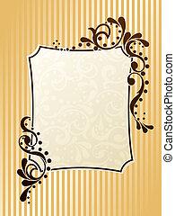 Vintage rectangular sepia frame - Elegant frame design...