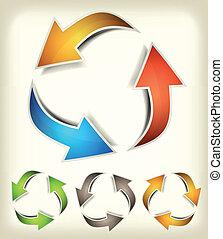 Vintage Recycle Arrows