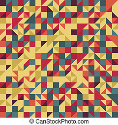 Vintage Red and Brown Pattern