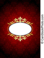 Vintage red and gold luxury frame