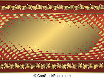 Vintage red and golden card