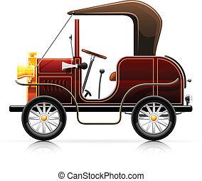 vintage red automobile vector illustration