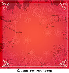 Vintage red background for a text