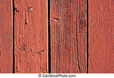 vintage red barn board background - wheathered vertical red...