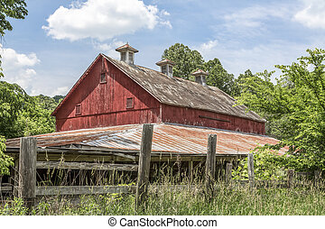 Vintage Red Barn in Ohio
