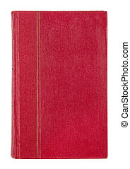 Vintage red book isolated on white background