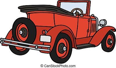 Vintage red cabriolet