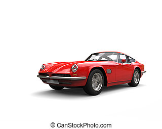 Vintage red fast car