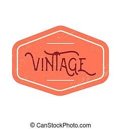 Vintage red label
