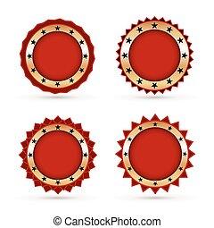 Vintage Red Labels template set.