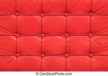 Vintage red leather sofa texture