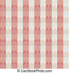 vintage red lines seamless pattern