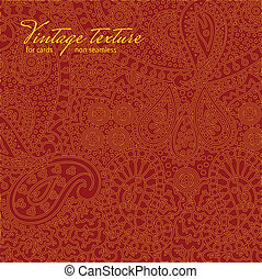 Vintage red paisley texture for cards and design