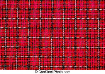 vintage red plaid pattern