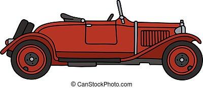 Vintage red roadster