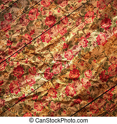 vintage red roses on a background of wood
