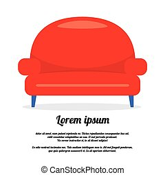 Vintage Red Sofa.