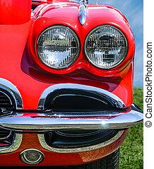 Vintage Red Sports Car