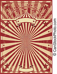 vintage red sunbeams - A vintage circus poster for your show