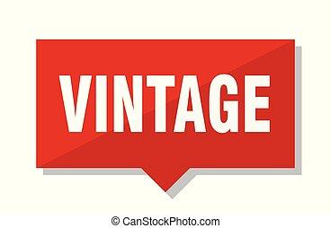 vintage red tag