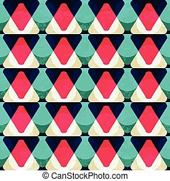 vintage red triangle seamless pattern
