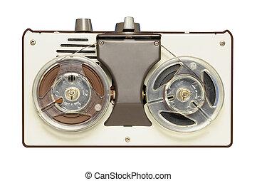 Vintage reel-to-reel tape recorder circa 1967, AIWA brand,...