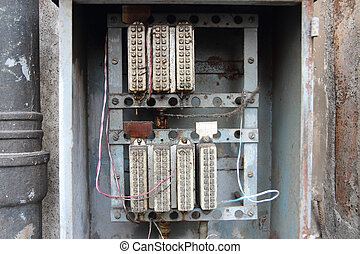 old electrical panel - vintage relays control power circuits...