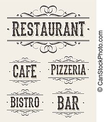 Vintage Restaurant And Pizzeria Banners