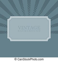 Vintage retro background with sample text vector illustration
