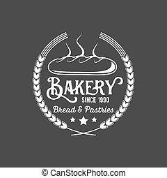 vintage retro bakery logo badge and label