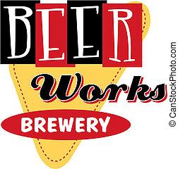 Vintage Retro Beer Sign Clip Art
