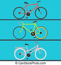 Vintage retro bicycle and style antique sport old fashion grunge flat pedal ride vector riding bike transport illustration.