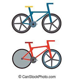 Vintage retro bicycle and style antique sport old fashion grunge flat pedal ride vector.