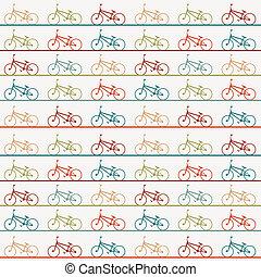 Vintage retro bicycle background - Vintage retro cartoon...